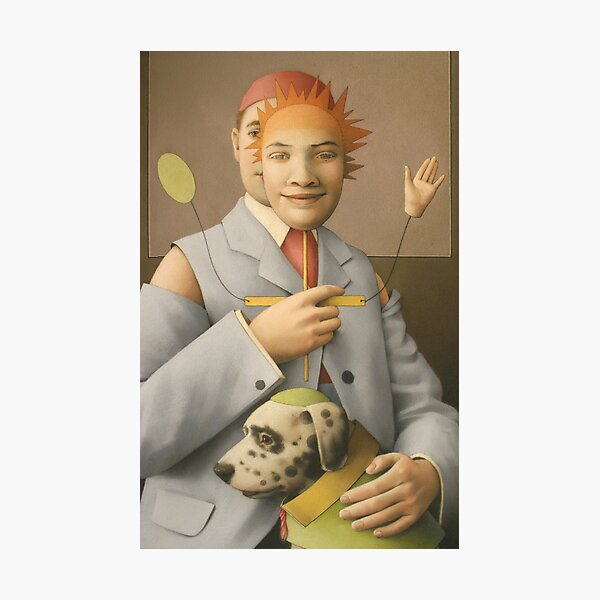 The Puppet Master and his Automaton Dog Photographic Print
