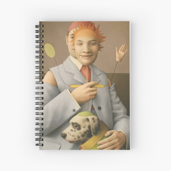 The Puppet Master and his Automaton Dog Spiral Notebook
