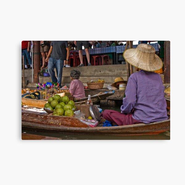 Damner Saduak floatting market Canvas Print