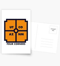 Four Corners - Blue and Orange Postcards