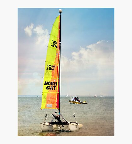 Hobie Cat Ashore. Photographic Print