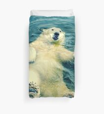 Chillaxing Polar Bear Duvet Cover
