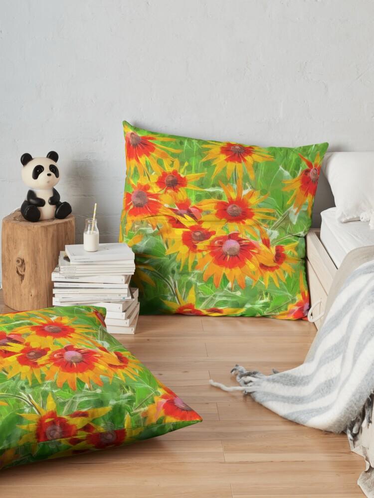 Alternate view of Flowers Floor Pillow