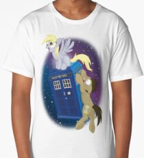 Tardis Adventure (Faded BG) Long T-Shirt