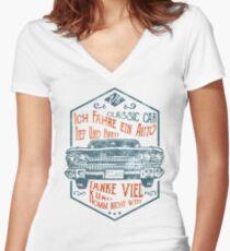 Tief und Breit Women's Fitted V-Neck T-Shirt