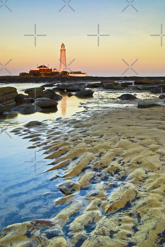 St Marys Lighthouse at Dusk by AJ Airey
