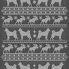 Ugly Christmas sweater dog edition - Jämthund / Jämtlanninpystykorva by Camilla Mikaela Häggblom