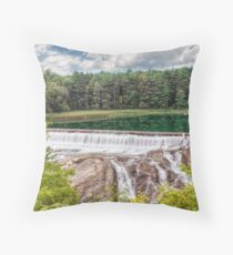 Dam on the Ottauquechee River Throw Pillow