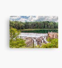 Dam on the Ottauquechee River Canvas Print