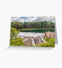 Dam on the Ottauquechee River Greeting Card