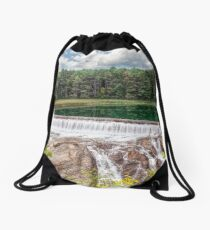 Dam on the Ottauquechee River Drawstring Bag