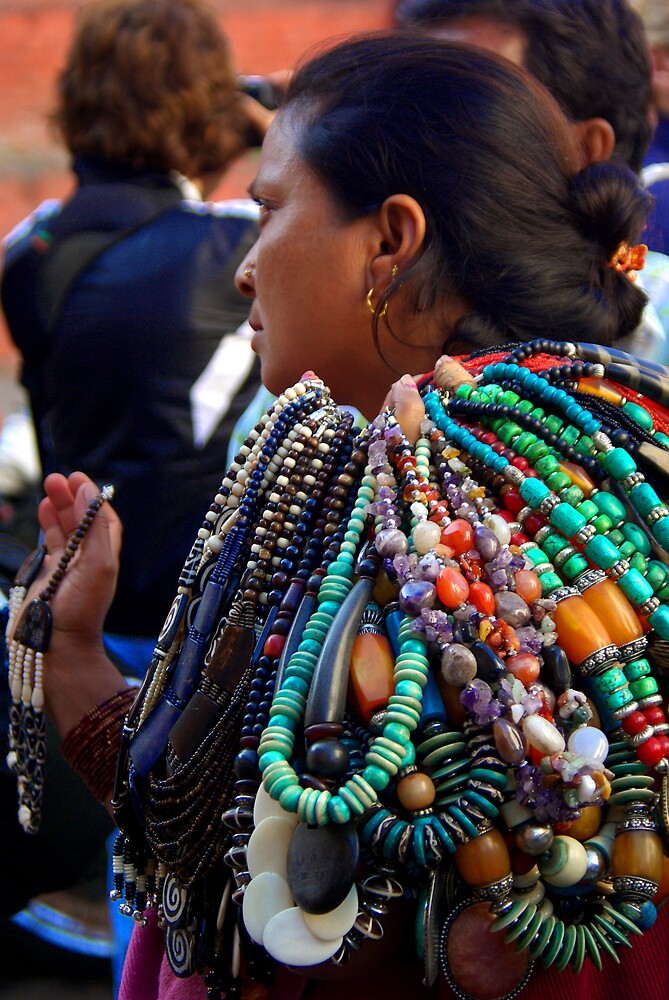 Necklace madam? -  Kathmandu, Nepal by AlliD