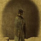 Japanese Man In Straw Hat 1866 Photograph Enhanced by T-ShirtsGifts