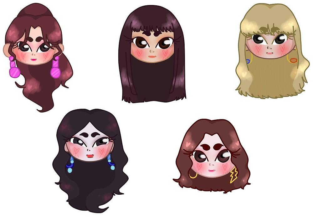 Peek-A-Boo Era Set by Sailor Doodle