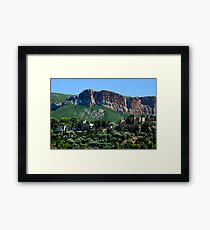 A Perched Vilage in Alpes-de-Haute-Provence, France Framed Print
