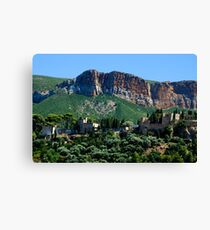 A Perched Vilage in Alpes-de-Haute-Provence, France Canvas Print