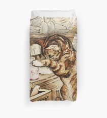 Simpkin the cat Housekeeping by Beatrix Potter Duvet Cover