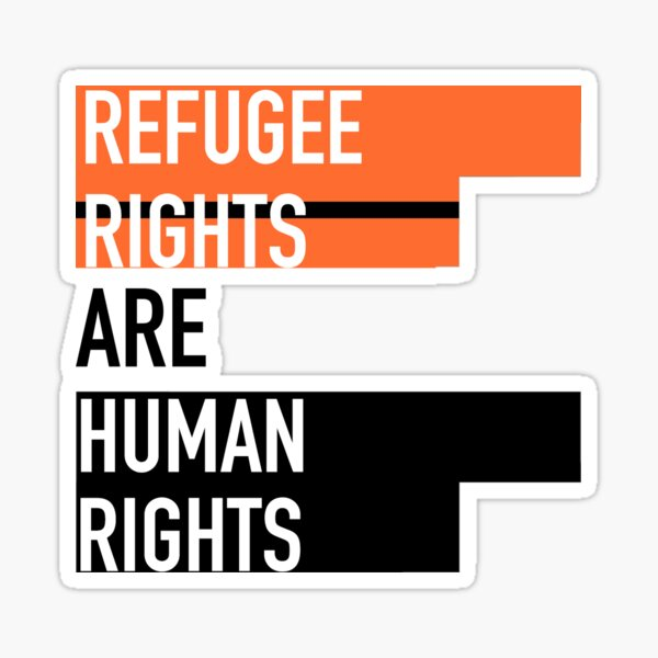 Refugee Rights Are Human Rights Sticker