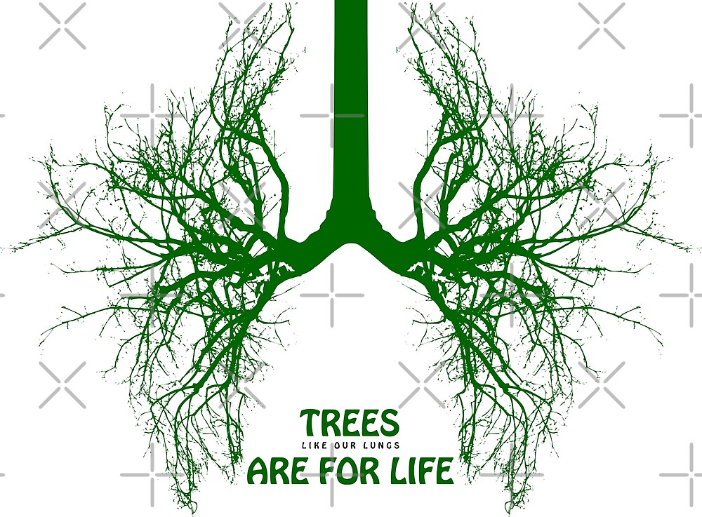 Trees Are For Life - Green II by Erno Veen