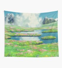 GHIBLI LANDSCAPE ANIME  Wall Tapestry