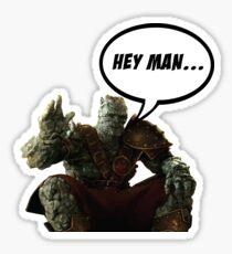 Korg, Hey man... Sticker