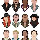 Black Sails characters (faceless) by Jess-P