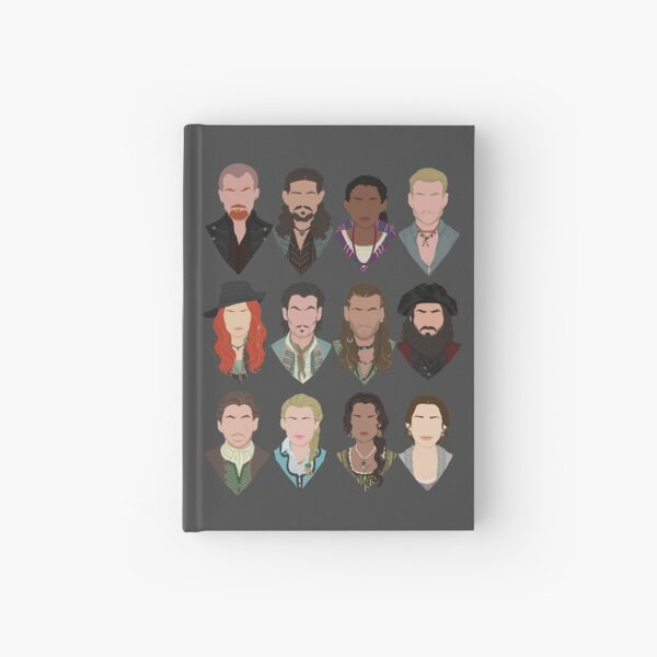 Black Sails characters (faceless) Hardcover Journal