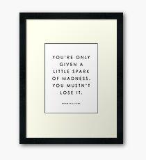 Spark Of Madness Framed Print
