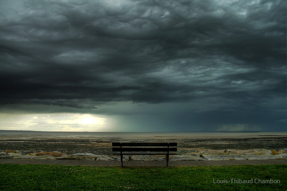 Lonely bench - February by Louis-Thibaud Chambon