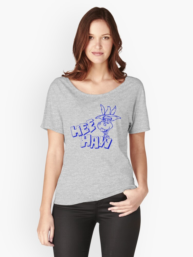 HeeHaw Women's Relaxed Fit T-Shirt Front