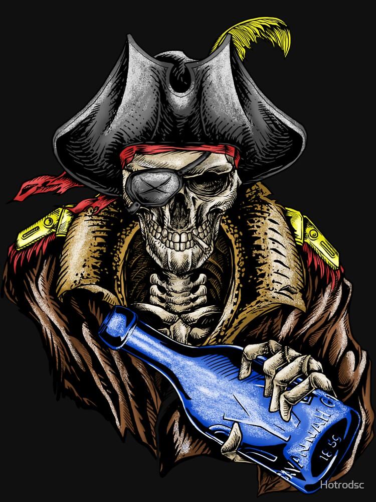 Pirate Skull Blue Bottle Color by Hotrodsc