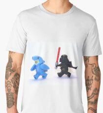 Lego Star Wars Darth Vader and Shark Suit Guy Pursuit Minifigure Men's Premium T-Shirt