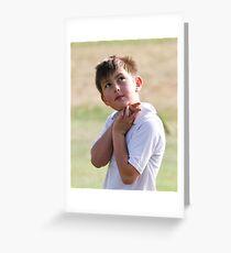 Angel Cricketer Greeting Card
