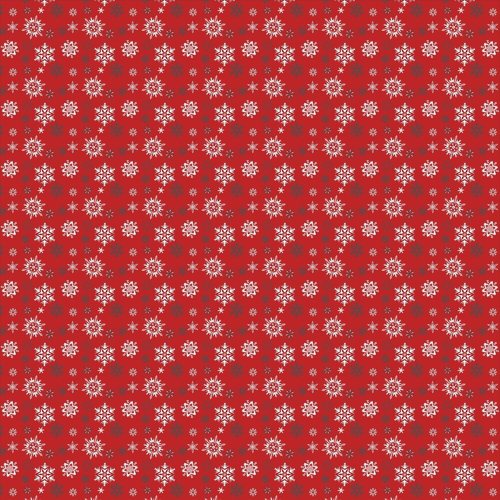 Snowflakes seamless vector pattern for Christmas packaging, textiles, wallpaper vector illustration. by Tella-creations