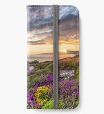 The Needles At Sunset Isle Of Wight iPhone Wallet/Case/Skin