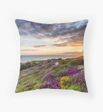 The Needles At Sunset Isle Of Wight Throw Pillow