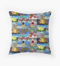 Spongebob Meme Collage Floor Pillow
