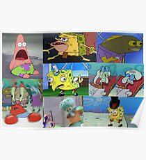Spongebob Meme Collage Poster