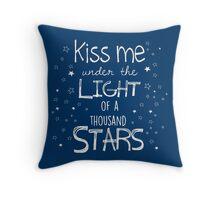Kiss Me Under the Light of a Thousand Stars Throw Pillow