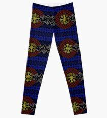Strickjacke-Muster-Colorado-Flagge Leggings