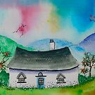Little Cottage in the Valley by FrancesArt