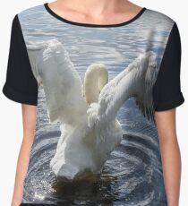 Swan Stretching  Chiffon Top