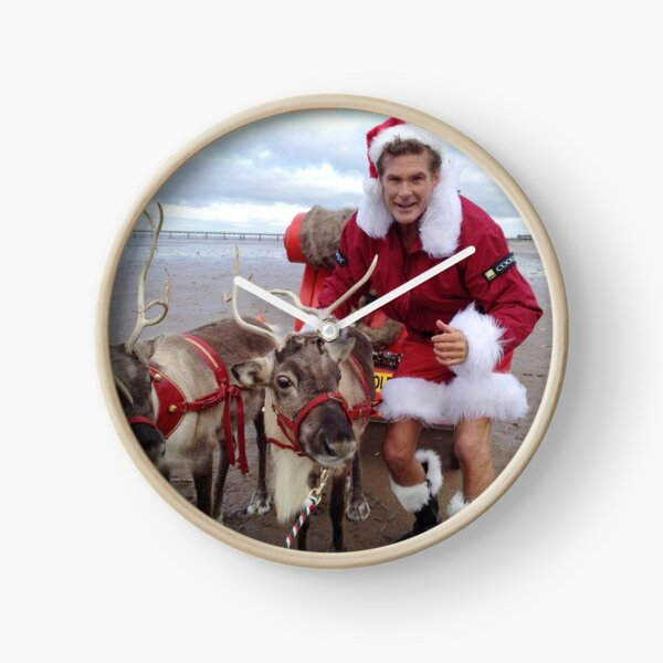 Christmas Hasselhoff Clock