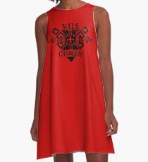 DA: Ich - Bulls Ladegeräte A-Linien Kleid