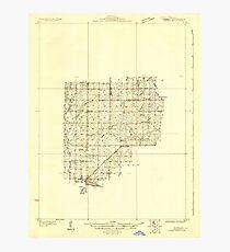 USGS TOPO Map Illinois IL Woodsung 363068 1930 48000 Photographic Print