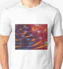 Abstract red futuristic background Unisex T-Shirt
