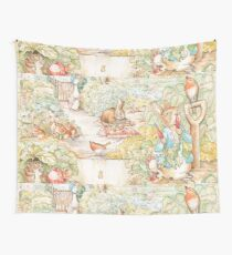 The World Of Beatrix Potter large vintage illustration Wall Tapestry