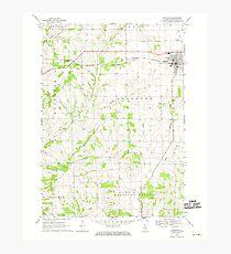 USGS TOPO Map Illinois IL Stockton 308832 1968 24000 Photographic Print