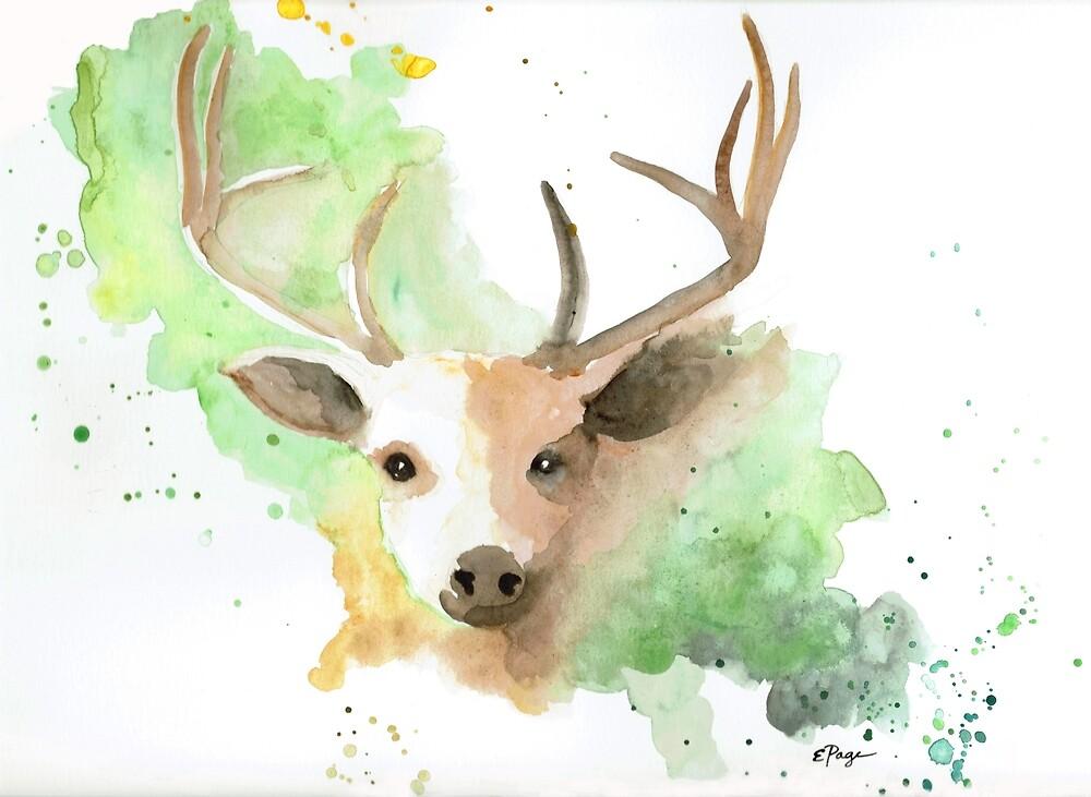 Deer by emilypageart