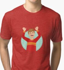 Angry Emotion Body Language Illustration Tri-blend T-Shirt